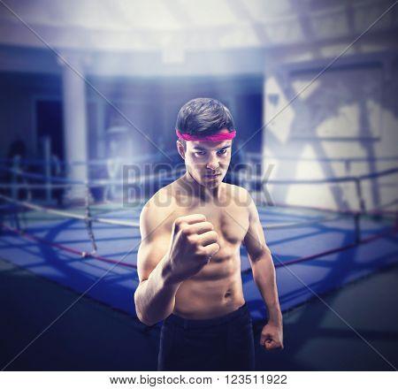 Young wrestler