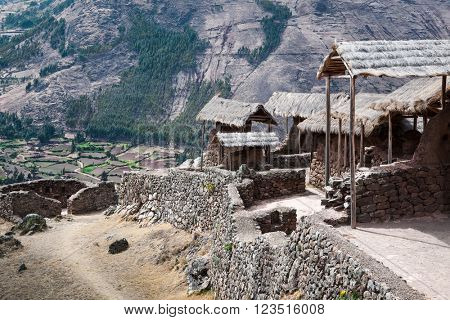 inca ancient stronghold in the mountains