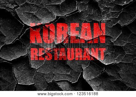 Grunge cracked Delicious korean cuisine with some smooth lines