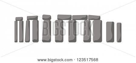 Historical monument Stonehenge ancient rock England UK vector.