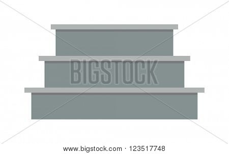 Stairs elements interior flat architecture concept vector.