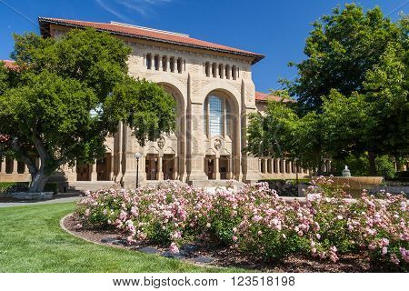 Palo Alto, Ca/usa - Circa June 2011: Building Of Stanford University Campus In Palo Alto,  Californi