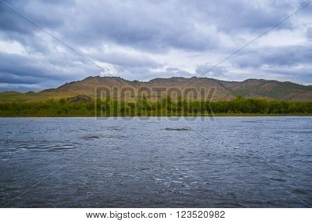 The largest in Buryatia, the Selenga flows into lake Baikal. ** Note: Soft Focus at 100%, best at smaller sizes