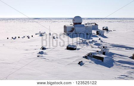 Abandoned polar station