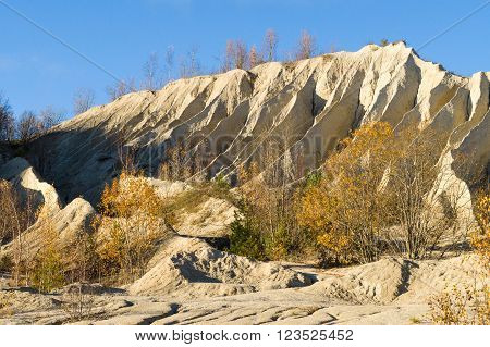 Rummu quarry autumn scene Harju county Estonia