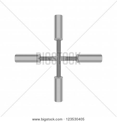 Electricity, wire, crossed icon vector image. Can also be used for electric circuits. Suitable for use on web apps, mobile apps and print media.