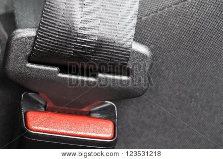 Seat belt lock of the front of the car seat