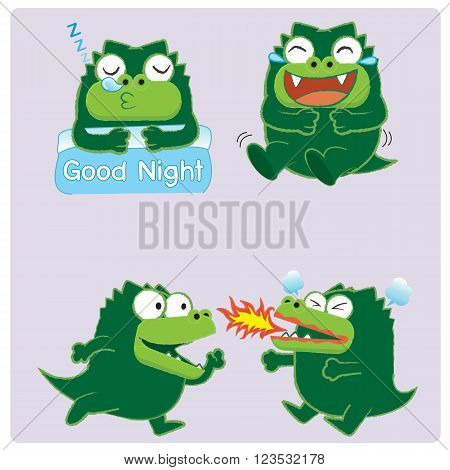 Emotion of crocodile , sleeping crocodile , laughing crocodile