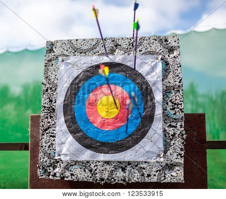 Targets At A Bow Shooting Range