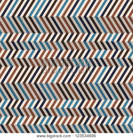 Fashion zigzag pattern in brown retro colors. Seamless chevron pattern. Vector background