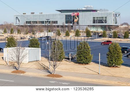 Little Rock, Ar/usa - Circa February 2016: William J. Clinton Presidential Center And Library In Lit