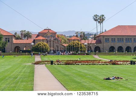 Palo Alto, Ca/usa - Circa June 2011: Stanford University Campus In Palo Alto,  California