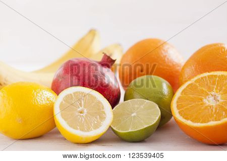 Healthy And Fresh Mixed Juice From Fruits