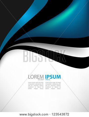 eps10 vector corporate wave elements concept design