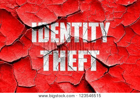 Grunge cracked Identity fraud background with some smooth lines
