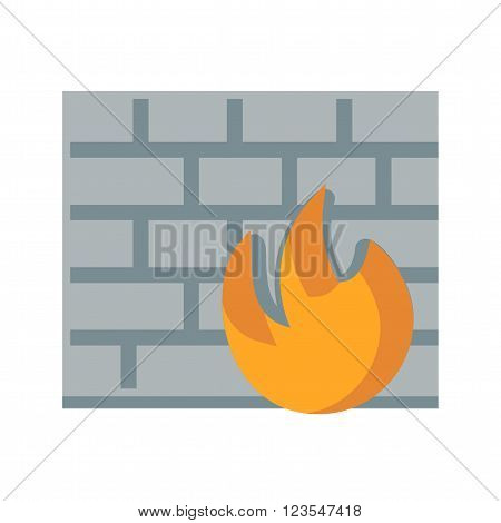 Firewall, protection, secure icon vector image.Can also be used for security. Suitable for mobile apps, web apps and print media.