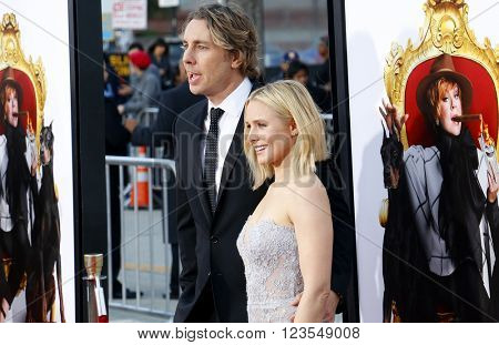 Dax Shepard and Kristen Bell at the Los Angeles premiere of 'The Boss' held at the Regency Village Theatre in Westwood, USA on March 28, 2016.