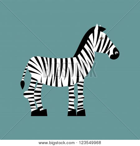 Zebra. Wild Animals Of Africa. Striped Zebra. Zebra Isolated