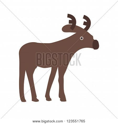Winter, deer, moose icon vector image.Can also be used for winter. Suitable for use on web apps, mobile apps and print media.