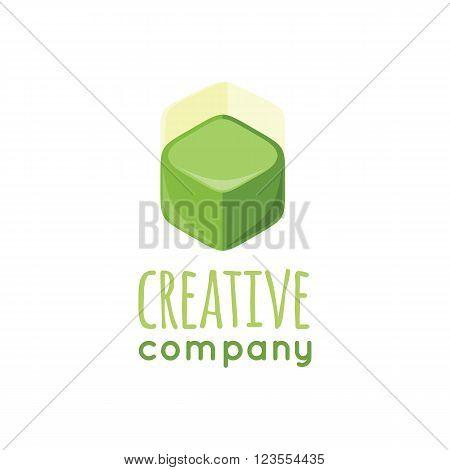 Creative company logo design flat. Logo company symbol, icon company business, corporate logotype, identity brand, branding label vector illustration