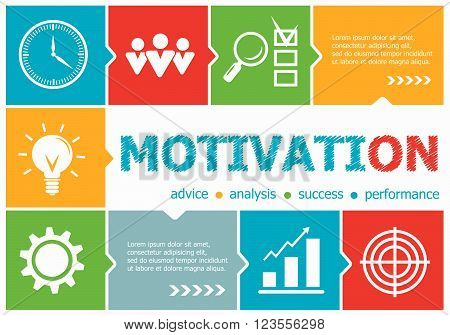Motivation design illustration concepts for business consulting management career. Motivation concepts for web banner and printed materials.