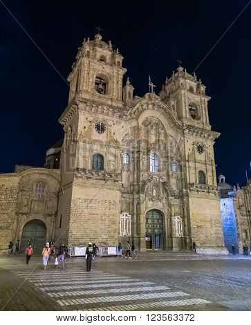 Cusco, Peru - Circa June 2015: Cathedral Basilica Of The Assumption Of The Virgin Or Santo Domingo A