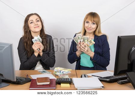 Two Girls At The Desk Office Cuddle Money Packs