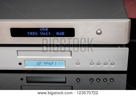 CD player and digital to analog converter.