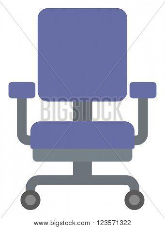 Blue office chair.