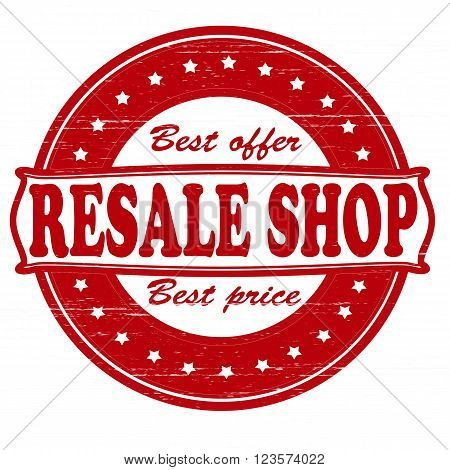 Stamp with text resale shop insidevector illustration