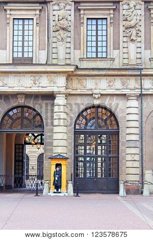 STOCKHOLM, SWEDEN - OCTOBER 17, 2013: The Royal Palace of Stockholm the official residence of the King of Sweden