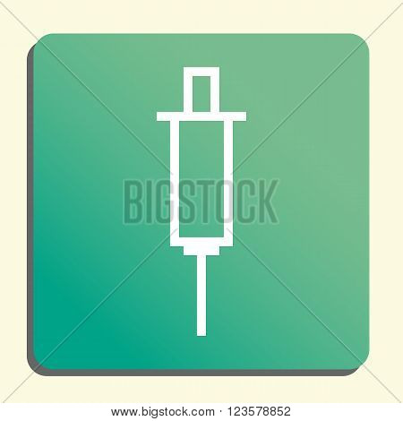 Needle Icon In Vector Format. Premium Quality Needle Icon. Web Graphic Needle Icon Sign On Green Lig