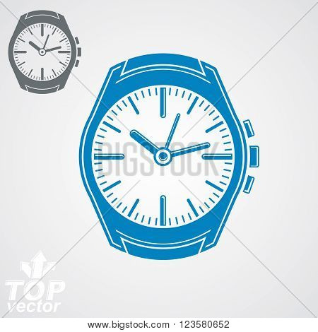 Vector graphic pocket watch classic detailed watch with dial and an hour hand.