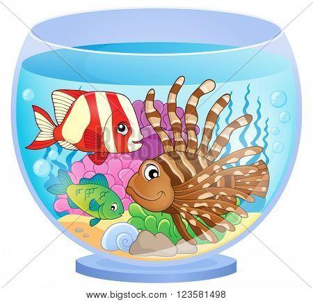 Aquarium topic image 2 - eps10 vector illustration.