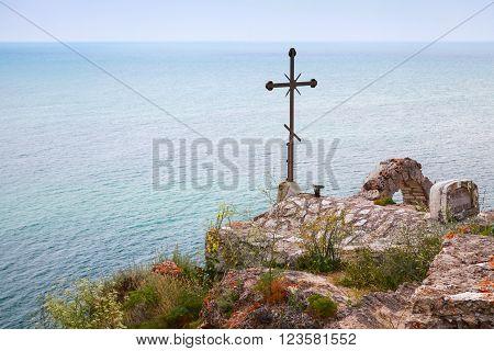 Cross On Roof Of Chapel Sveti Nikola, Kaliakra