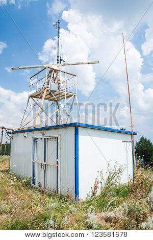 Observation Radar Station Tower With Radar
