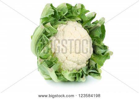 Cauliflower Vegetable Isolated On White