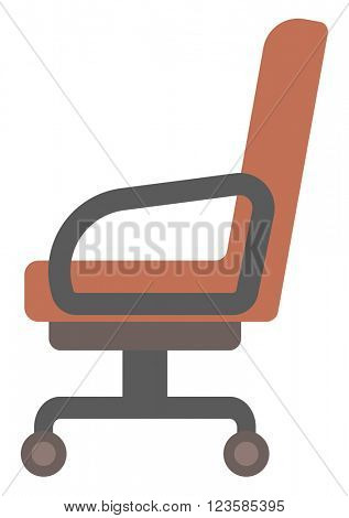 Brown office chair.