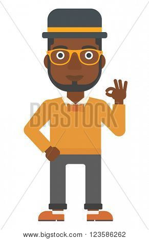Man gesturing OK sign.