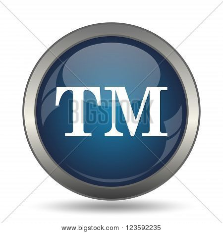 Trade mark icon. Internet button on white background.