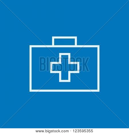 First aid kit line icon.