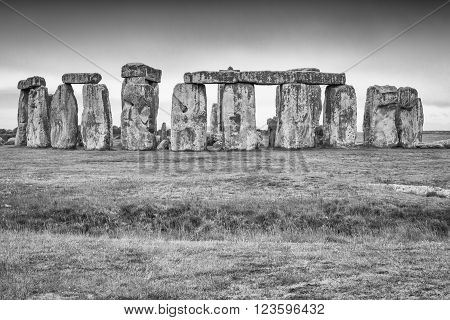 View of the famous Stonehenge, England, UK