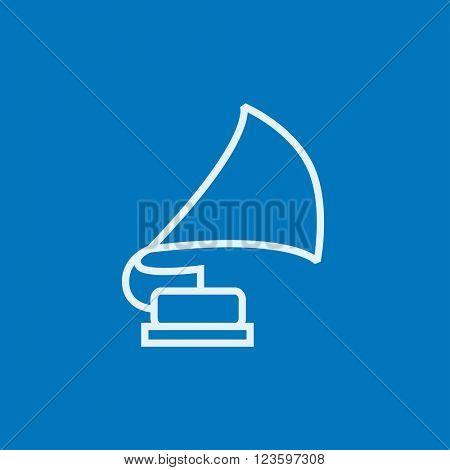 Gramophone line icon.