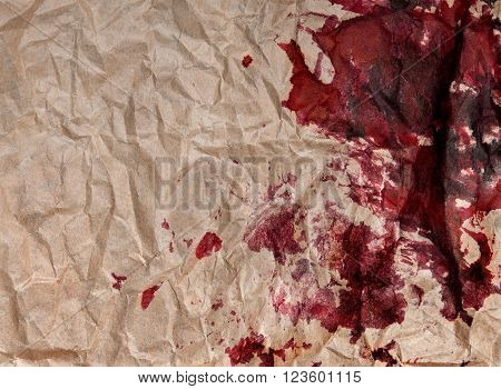 crumpled paper with blots . background abstract,