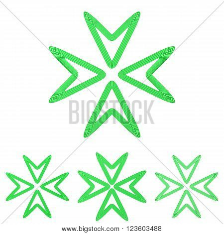 Green line media symbol logo design set