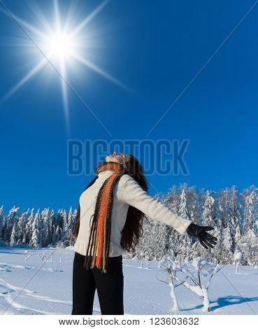 Happy Portrait Enjoying the Snow