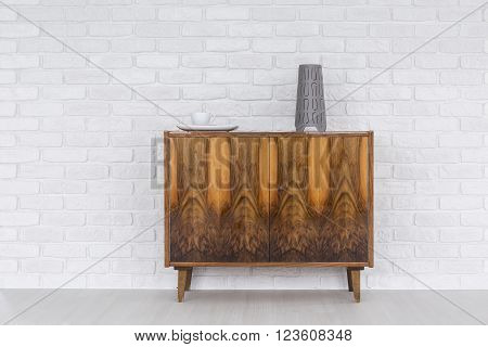 Old Commode As A Decoration Of A Modern Flat