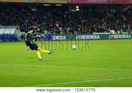 Goalkeeper Ciprian Tatarusanu Playing During A Match
