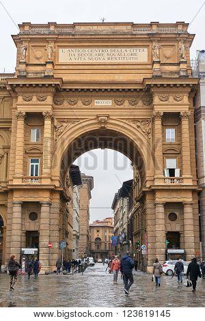 The Arch Of Triumph At Piazza Della Repubblica