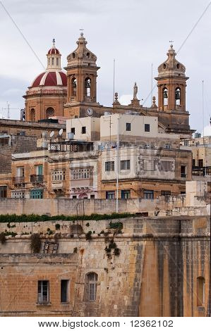 St. Lawrennce Cathedral At Vittoriosa. Malta